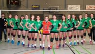 Bei den Deutschen Meisterschaften eine verschworene Gemeinschaft im Kampf David gegen Goliath … die U18 der proWIN Volleys TV Holz  Foto: Georg Kunz