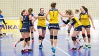 Ist heiß auf den kommenden Soppelspieltag: Das Volleyballteam DSHS SnowTrex Köln Foto: Martin Miseré
