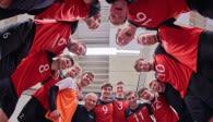 SSC Karlsruhe  tritt zu seinem letzten Saison-Spiel im Friedrichshafener Volleyballtempel auf Foto: Andreas Arndt