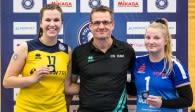 Führte heute glänzend Regie und erhielt dafür zu Recht die goldene MVP-Medaille: Kölns Zuspielerin Kirsten Tälkers Foto: Martin Miseré