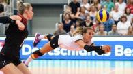Lenka Dürr mit über 200 Spielen für die Hallen-Nationalmannschaft. Foto: Conny Kurth / DVV
