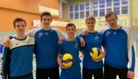 Freuen sich auf eine Saison beim VC Olympia Berlin (von links): Tobias Hosch, Leon Meier, Johann Reusch, Jannik Brentel und Onno Möller.  Foto: Gunthild Schulte-Hope