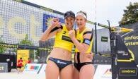 Tanja Hüberli (links) und Isabel Schneider (rechts) freuen sich über den Sieg. Foto: Conny Kurth