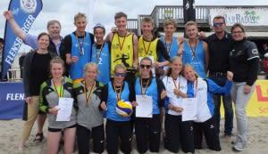 Der Bayernauswahl Beach gelang ein historischer Erfolg beim Bundespokal Beach in Damp