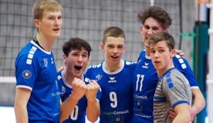 Lennart Heckel, Linus Engelmann, Tobias Hosch, Benedikt Waldinger und Johann Reusch (von links) dürfen endlich auswärts jubeln.