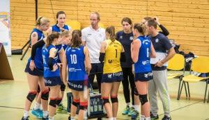 Konnten auch im Rückspiel nicht die entscheidenden Big-Points verbuchen: Das Volleyballteam DSHS SnowTrex Köln