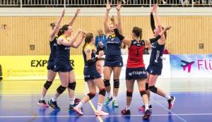 Wollen auch im hohen Norden eine gute Leistung zeigen: Die Zweitliga-Volleyballerinnen vom Team DSHS SnowTrex Köln