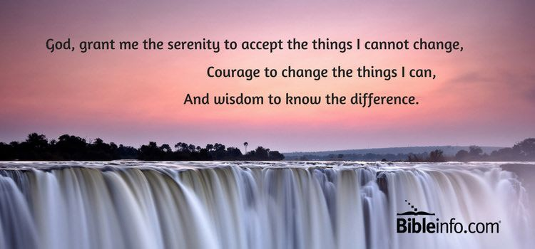 What is the Serenity Prayer? | Bibleinfo com