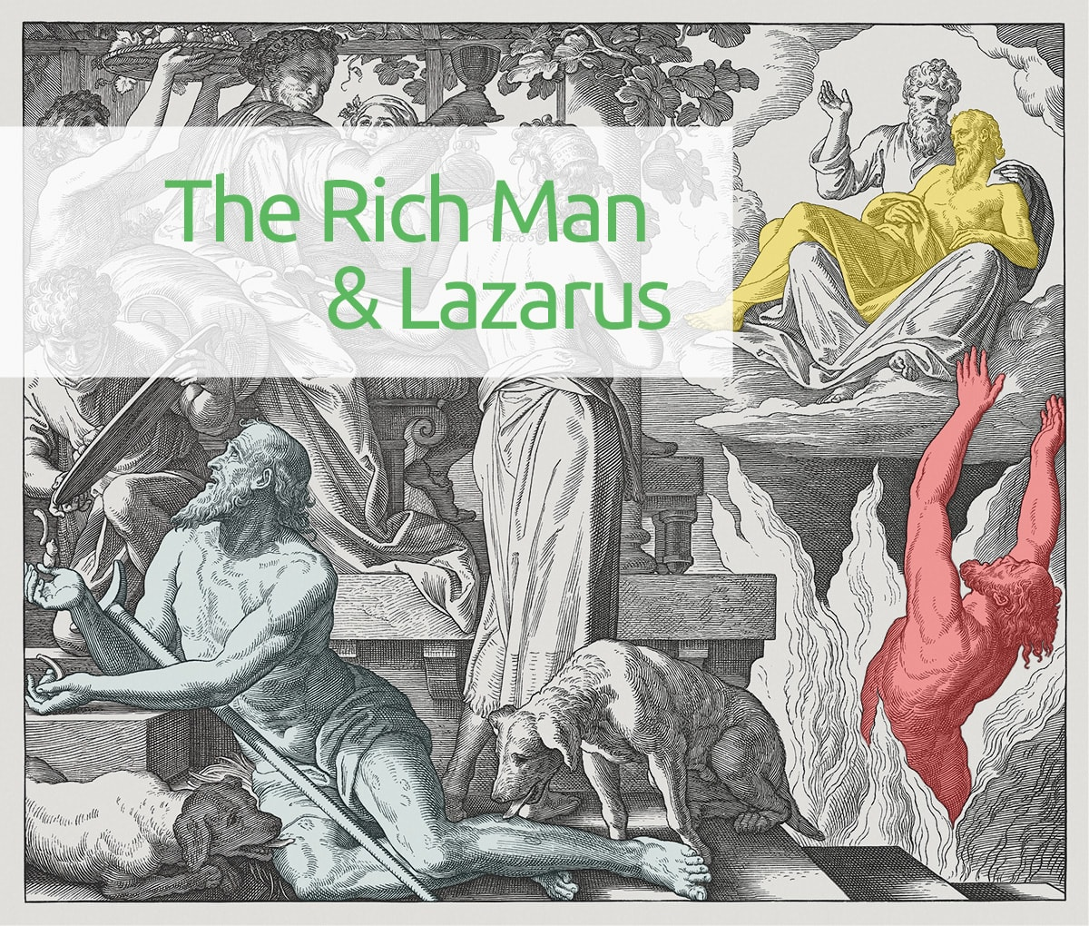 the rich man and Lazarus painting