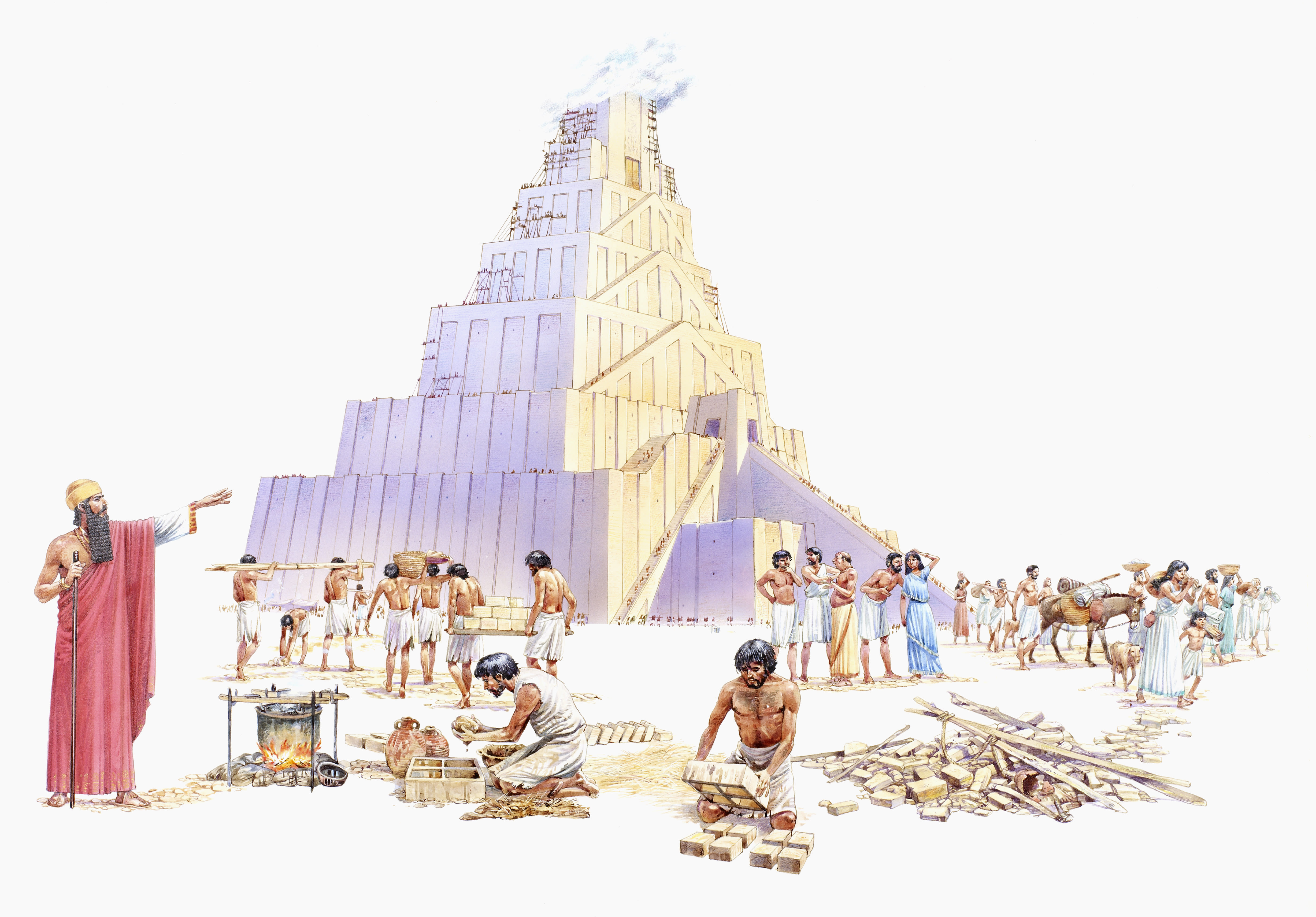 Image of what the Tower of Babel may have looked like