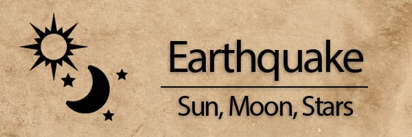 6th seal: Earthquake, Sun and Moon