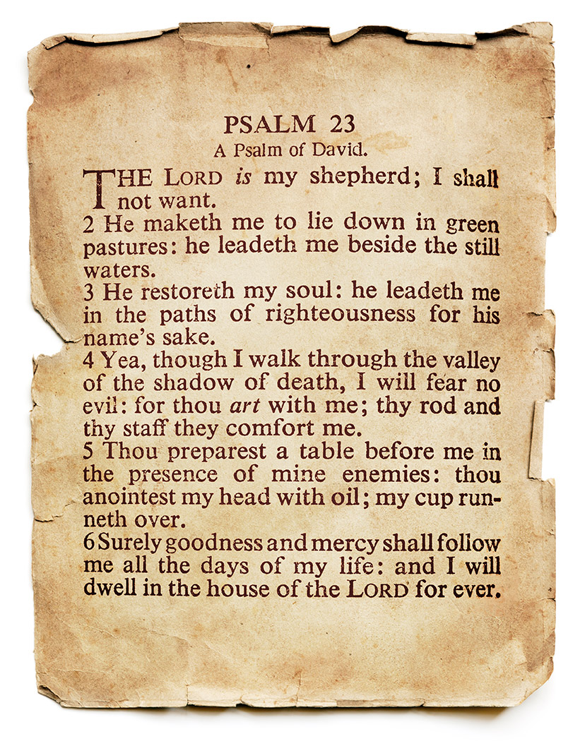 Psalm 23 Bible verse