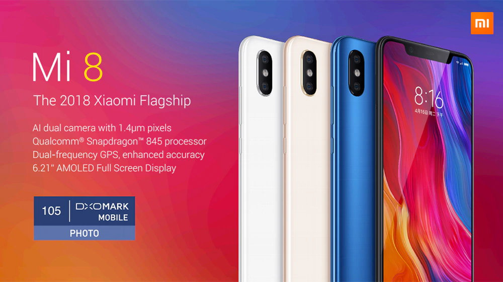 23% off Xiaomi Mi 8 Gearbest Coupon Promo Code xiaomi mi 8 - Xiaomi Mi 8 - Xiaomi Mi 8 Gearbest Coupon [6+128GB] [EU Stock]