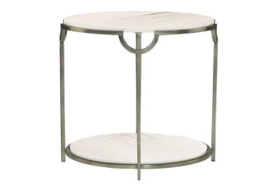 Morello Oval Metal End Table BERNHARDT MORELLO OVAL ACCENT TABLE BERNHARDT MORELLO OVAL ACCENT TABLE