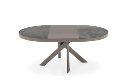 Tivoli Table 130D(190): Taupe/Lead Grey