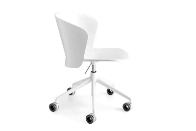 Bahia Office Chair Gas Lift White_cs1839_P20P_back.jpg Bahia Office Chair with Gas Lift - White White - cs1839 Calligaris Bahia Office Chair Gas Lift White_cs1839_P94_back.jpg Bahia Office Chair with Gas Lift - White White - cs1839 Calligaris