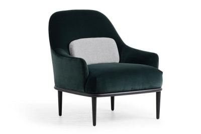 Hasse Chair: Senza DkGreen/JamieGrey/Blk
