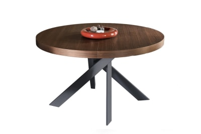 Tivoli smoke and grey base.jpg Tivoli smoke top grey metal base_ by calligaris_ Extendible table Tivoli smoke and grey base.jpg