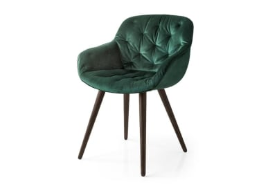 Igloo Soft Dining Chair Green Velvet