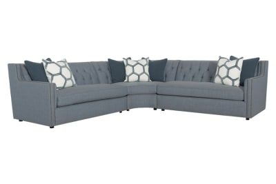 Candace Sectional Sofa: Blue Weave