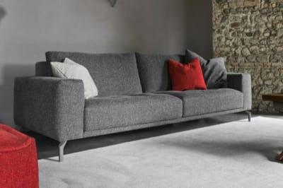 Vegas 3 Seater Sofa: Grey / Regent Grey Fleck