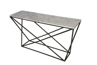 Chanel Console 140x40cm: Carrara/Black
