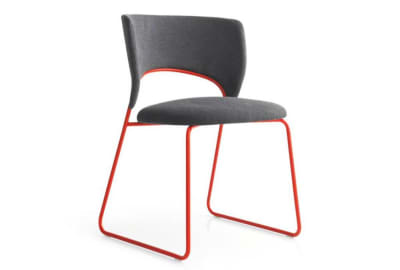 duffy dining chair red front  Calligaris product shots   Match, Duffy