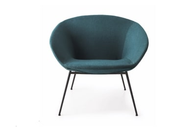 Love Armchair: Black/ Bergen Blue