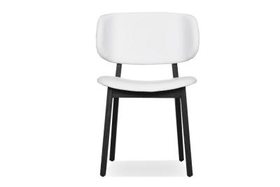Calligaris Claire Chair White Leather Graphite Base Claire Chair White Leather Graphite