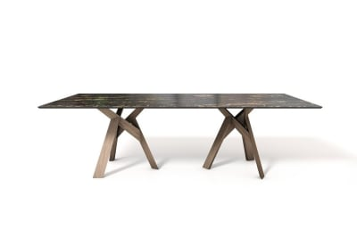 Jungle RC 250 Table: Walnut/ Emperador Marble