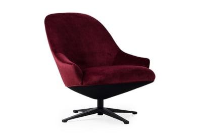 Turi Swivel Chair: Juke Bordeaux (39)