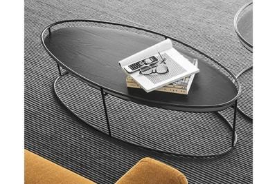 calligaris atollo111.jpg Calligaris Atollo CS/5098-WL coffee table Black Ash top black base calligaris atollo111.jpg