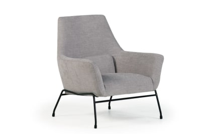 Mies Armchair: Tivoli Light Grey Fabric