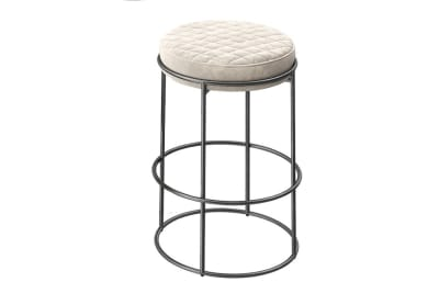 Atollo Stool 65cm: Black Nickel/Venice Sand
