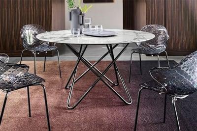Stellar 140 D/Table: Black Nickel/Silk White