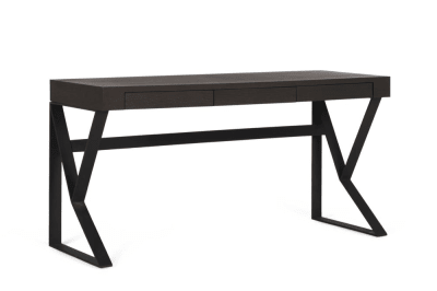 Bend Desk Smoke Top Black Legs drawers closed Bend Desk Elementa Drawers Compact Bend Desk Elementa Drawers Compact Better Bona Industrial Desk