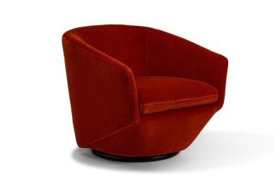 Bauhaus Armchair: Coral Red Velvet