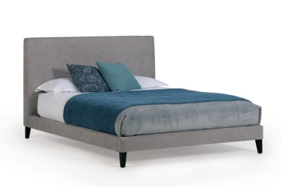 Linear KS Bed Tivoli Lt Grey/Black Leg