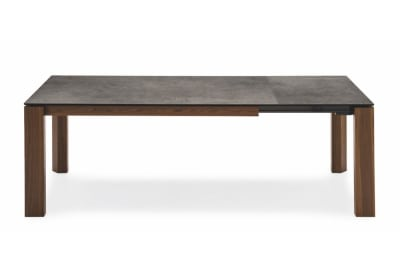 Omnia Table 220(280)x100cm: Smoke/Lead Grey Ceramic