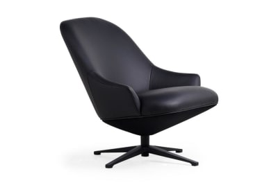Turi Swivel Chair: Patrol Black
