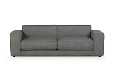 Bloc 3 Seater Mambo Light Grey Fabric Front Shot Bloc Sofa - Mambo Light Grey fabric - Ditre Italia - Front Shot Bloc Sofa - Mambo Light Grey fabric - Ditre Italia - Front Shot - teflon treated fabric sofa - Venice Made in Italy