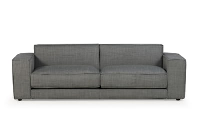 Bloc Large 3 Seater Mambo Light Grey Fabric Front Shot Bloc Sofa - Mambo Light Grey fabric - Ditre Italia - Front Shot Bloc Sofa - Mambo Light Grey fabric - Ditre Italia - Front Shot - teflon treated fabric sofa - Venice Made in Italy