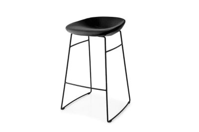 Palm (Sled) Stool: Matt Blk/Black Skuba