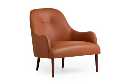 Else Armchair: Treviso Tan/Walnut