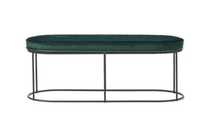 Atollo Bench Otto: Black Nickel/ Forest Green