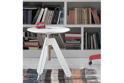 Basalto Side Table: White