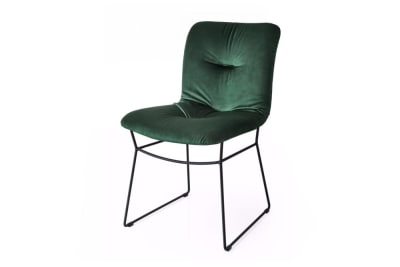 Annie Soft Chair Black Sled/Forest Green