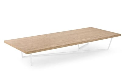Low-T Coffee Table - Optic White and Natural