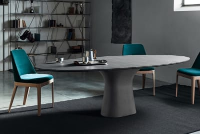 Podium Table 250x116cm:Natural Concrete