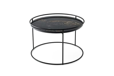 Atollo Coffee table CS5098 CM by Calligaris Black marble top and black metal base.jpg Atollo Coffee table By Calligaris CS/5098-CM Black marble top and black metal base Atollo Coffee table CS5098 CM by Calligaris Black marble top and black metal base.jpg
